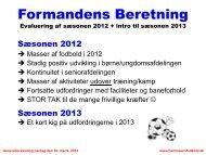 Formandens Beretning 2013 - Hammelev SUF Fodbold