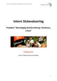 """Intern Slutevaluering Projektet """"Bæredygtig Skovforvaltning i ..."""