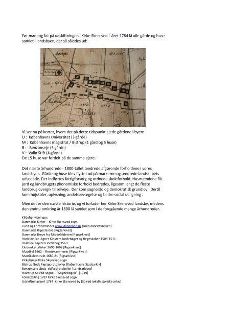 Om Kirke Skensved - en landsbys tidlige historie 1000 ... - SOLOFO