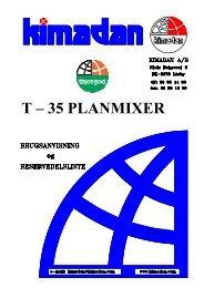 T – 35 PLANMIXER - Thyregod A/S
