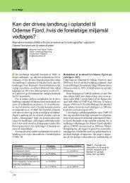 Kan der drives landbrug i oplandet til Odense Fjord ... - LandbrugsInfo