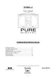 Pure Evoke-2 Dansk Manual