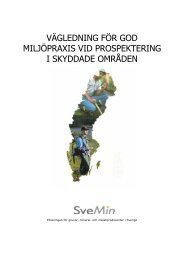 vägledning för god miljöpraxis vid prospektering i skyddade ... - JIMAB