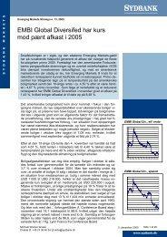 EMBI Global Diversifed har kurs mod pænt afkast i 2005 - Sydinvest