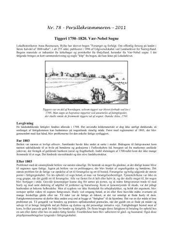 Nr. 78 Tiggeri 1750 - 1820 - Stensballe Lokalhistoriske Arkiv