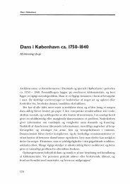 Dans i København ca . 1750- 1840 - dansk musikforskning online