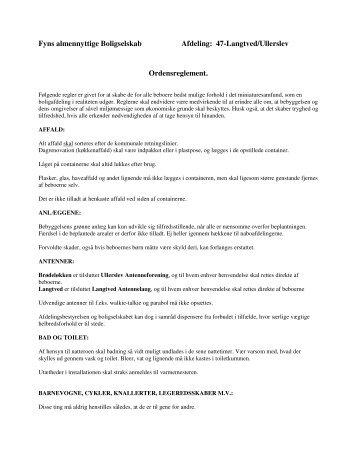 47-Langtved/Ullerslev Ordensreglement. - Fyns almennyttige ...