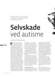 Selvskade ved autisme - Servicestyrelsen