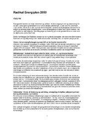 Radikal Energiplan 2050 - Radikale Venstre