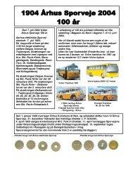 Den 7. juli 2004 fylder Århus Sporveje 100 år. Aarhus ... - Sporvejsdrift