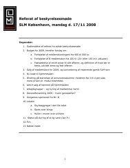 Referat af bestyrelsesmøde i SLM København tirsdag d