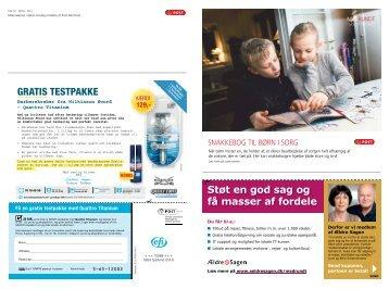 Materialerne i dette omslag omdeles af Post Danmark