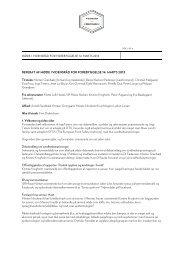 Rådsmøde 14. marts 2013 - Vidensråd for Forebyggelse