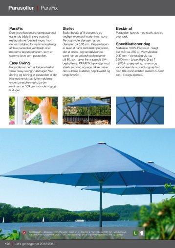 produktprogram af parasoller her - BN Markiser