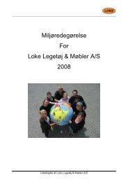 2008 Loke endelig Miljøredegørelse - Miljønetværk Syd