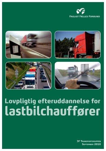 lastbilchauffører - Uddannelsesnyt