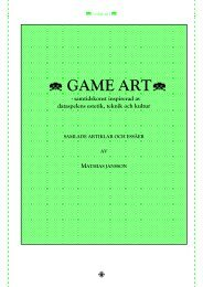 B GAME ARTB - Mathias Jansson art critic & poet