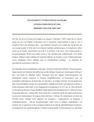 Formandens beretning 2006 - Transparency International Danmark