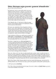 Byens præster gennem tiderne - Øster Hornum Portalen