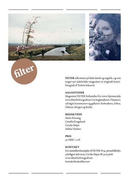 Presse- meddelelse #04 - FILTER - for fotografi