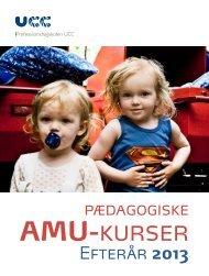 Kursuskatalog - efterår 2013 - Mere viden: UCC kursus- og ...