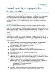 Huskeliste til foredrag og mindre arrangementer - Scleroseforeningen