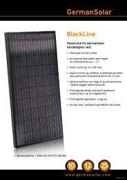 Produktblad - BlackLine - Sunsolar
