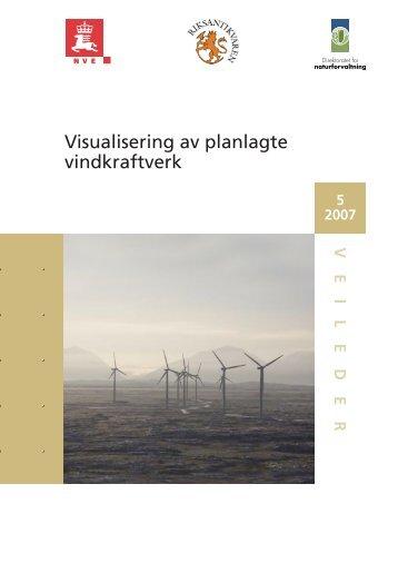 Visualisering av planlagte vindkraftverk - NVE