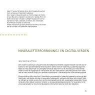 Geus Årsberetning 1999, Mineralefterforskning i en digital verden
