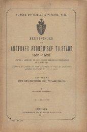 Beretninger om Amternes Økonomiske Tilstand, 1901 - 1905