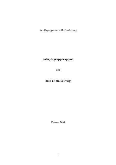 Rapport om hold af malkekvæg - Dyrenes Beskyttelse