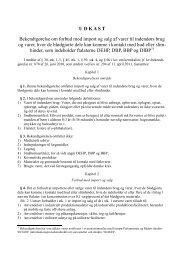 Her kan du se udkastet til bekendtgørelsen (pdf) - Dansk Erhverv