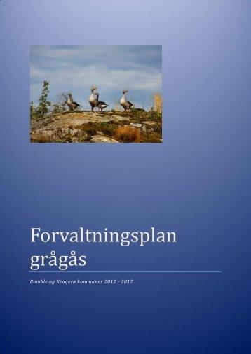 Forvaltningsplan grågås Bamble og Kragerø kommuner ...