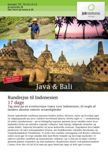 Java & Bali - Jysk Rejsebureau