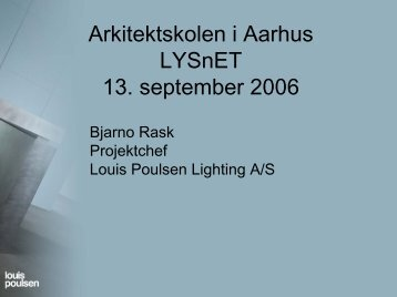 Lys og lyskilder - Lysnet