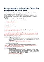 Referat og bilag - Fjerritslev Gymnasium