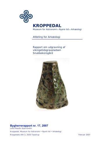 Bygherrerapport TAK 1304 - Kroppedal Museum