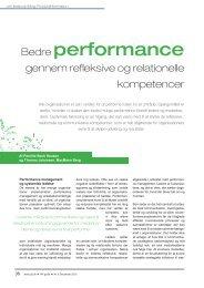 Bedre performance gennem refleksive og ... - MacMann Berg