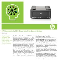HP StorageWorks RDX Removable Disk Backup System Data sheet