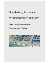 Daginstitution - fra Skanderborg Kommune