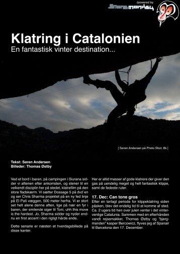 Læs mere om klatring i Catalonien. - Stonemonkey.dk