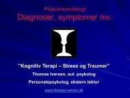 Diagnoser, symptomer