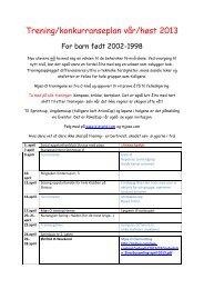Sesongplan gruppe 3 (1998-2002) - Gjø-Vard Orienteringslag