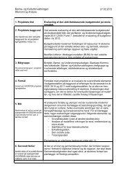Projektbeskrivelse til BUU.pdf - Gladsaxe Kommune
