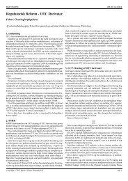 Regulatorisk Reform - OTC Derivater - Plesner