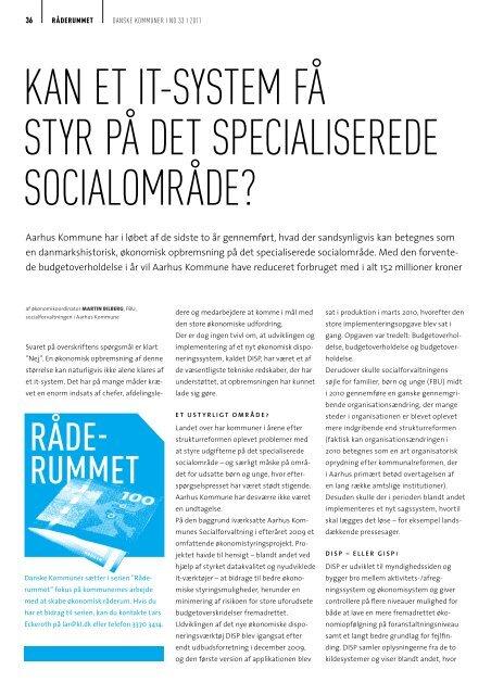 Artikel om DISP i Danske Kommuner (pdf 370 KB) - Aarhus.dk