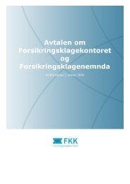 Avtalen om Forsikringsklagekontoret og Forsikringsklagenemnda