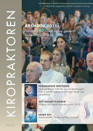 ÅRSM0DE 2011: - Dansk Kiropraktor Forening
