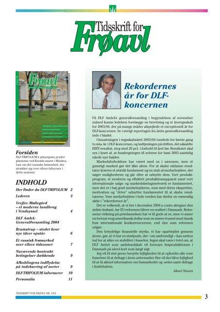 Tidsskrift for Frøavl nr. 3, december/januar 2004/05 - DLF ...