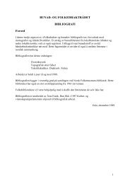 BUNAD- OG FOLKEDRAKTRÅDET BIBLIOGRAFI Forord
